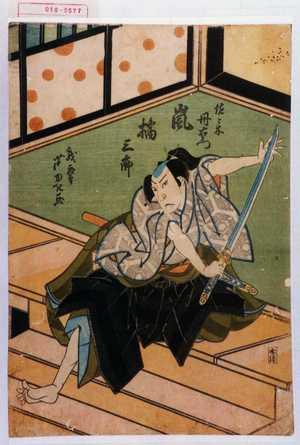 芦ゆき: 「佐々木丹右衛門 嵐橘三郎」 - 演劇博物館デジタル