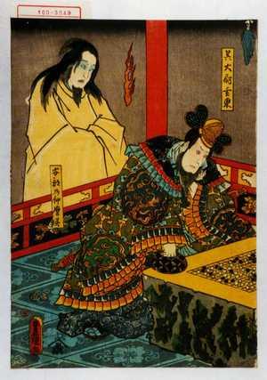 Utagawa Kunisada: 「呉大尉玄東」「阿部乃仲麿霊」 - Waseda University Theatre Museum
