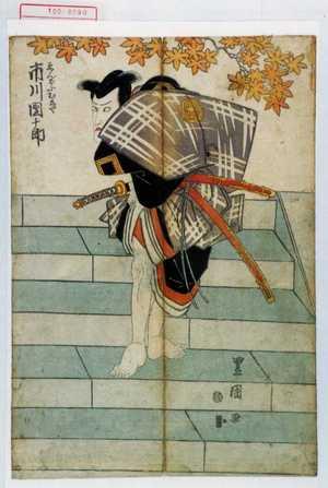 歌川豊国: 「ゑんどふむしや 市川団十郎」 - 演劇博物館デジタル
