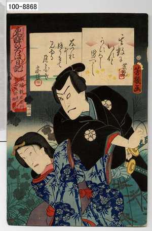 Ochiai Yoshiiku: 「東駅いろは日記」「須破数右衛門 水木辰世 実ハ猫石怪」 - Waseda University Theatre Museum