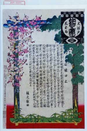 Adachi Ginko: 「大江戸しばゐねんぢうぎやうじ」「目録口上」 - Waseda University Theatre Museum