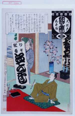 Adachi Ginko: 「大江戸しばゐねんぢうぎやうじ」「感亭流」 - Waseda University Theatre Museum