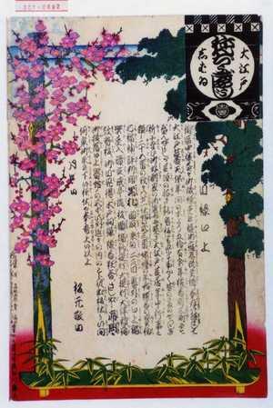 安達吟光: 「大江戸しばゐねんぢうぎやうじ」「目録口上」 - 演劇博物館デジタル