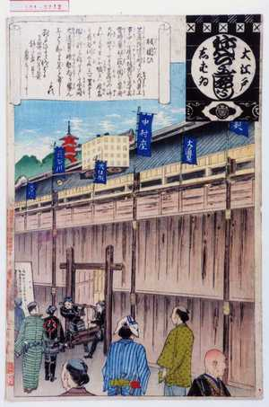 安達吟光: 「大江戸しばゐねんぢうぎやうじ」「板囲ひ」 - 演劇博物館デジタル