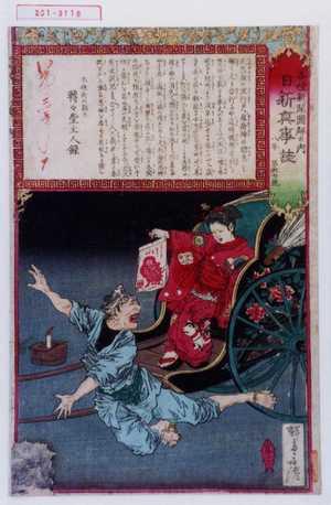 Kobayashi Eitaku: 「各種新聞図解の内 日新真事誌 八年 第卅七号」 - Waseda University Theatre Museum
