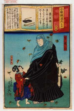 落合芳幾: 「今様擬源氏 五十四」 - 演劇博物館デジタル