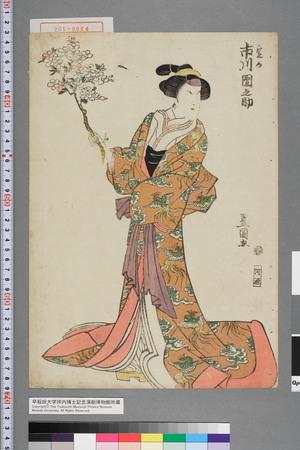 歌川豊国: 「定か 市川団之助」 - 演劇博物館デジタル