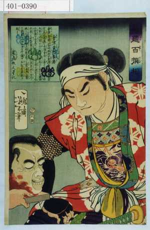 月岡芳年: 「魁題百撰相」「会津黄門景勝」 - 演劇博物館デジタル