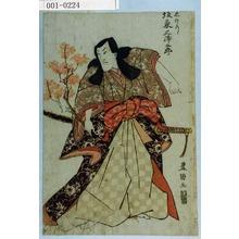 歌川豊国: 「忠のり 坂東三津五郎」 - 演劇博物館デジタル