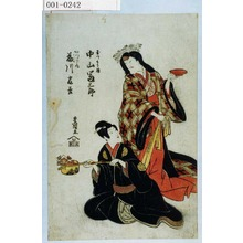 Utagawa Toyokuni I: 「玉つくり姫 中山富三郎」「かつら丸 藤川友吉」 - Waseda University Theatre Museum