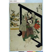 歌川豊国: 「百性鹿蔵 市川団十郎」 - 演劇博物館デジタル