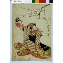 Utagawa Toyokuni I: 「けはひ坂の少々 岩井粂三郎」 - Waseda University Theatre Museum