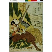 歌川豊国: 「二の瀬源六近忠 市川団十郎」 - 演劇博物館デジタル
