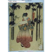 Utagawa Toyokuni I: 「七賢人之見立 岩井梅我」 - Waseda University Theatre Museum