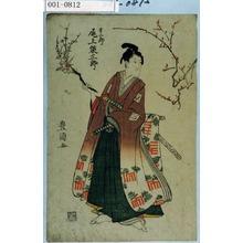 Utagawa Toyokuni I: 「吉三郎 尾上栄三郎」 - Waseda University Theatre Museum