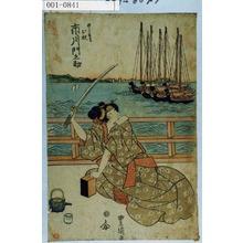 歌川豊国: 「めしもりお杉 市川門之助」 - 演劇博物館デジタル