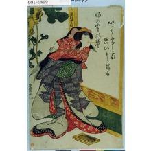 Utagawa Toyokuni I: 「[お]みつ 沢村田之助」 - Waseda University Theatre Museum