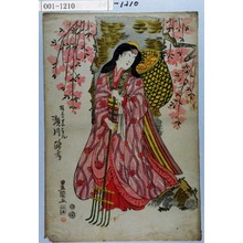 Utagawa Toyokuni I: 「桜木のせいこん 瀬川路考」 - Waseda University Theatre Museum
