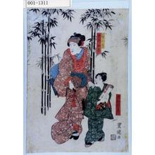 Utagawa Toyokuni I: 「七賢人之見立 岩井杜若」「市村羽左衛門」 - Waseda University Theatre Museum