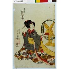 Utagawa Kunisada: 「あやは 沢村田之助」 - Waseda University Theatre Museum