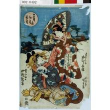 Utagawa Kunisada: 「十二月ノ内 文月葉月」「手ならい子 市むら家橘」「月の☆日 中村翫雀」 - Waseda University Theatre Museum