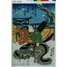 Utagawa Kunisada: 「曽我十郎祐成 尾上菊五郎」 - Waseda University Theatre Museum