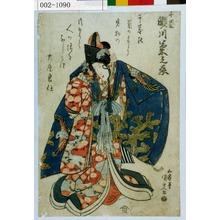 歌川国貞: 「千歳 瀬川菊之丞」 - 演劇博物館デジタル