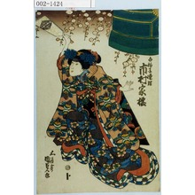 Utagawa Kunisada: 「白拍子連理 市村家橘」 - Waseda University Theatre Museum