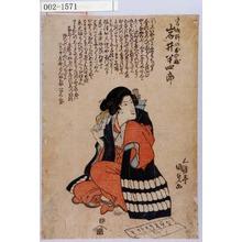 Utagawa Kunisada: 「宮城野のしのぶ 岩井半四郎」 - Waseda University Theatre Museum