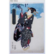 歌川豊重: 「当世十二月 卯月」 - 演劇博物館デジタル