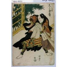歌川国安: 「はしば久吉 尾上菊五郎」 - 演劇博物館デジタル
