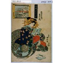 Utagawa Kuniyasu: 「傾城見立八景」「姿海老屋内 鷹の尾」 - Waseda University Theatre Museum