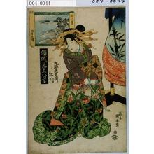 Utagawa Kuniyasu: 「傾城見立八景」「丸海老屋内 江門」 - Waseda University Theatre Museum