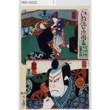 Utagawa Kuniyoshi: 「江都錦今様国尽」「宮城野 しのぶ 佐藤忠信」「陸奥」「出羽」 - Waseda University Theatre Museum