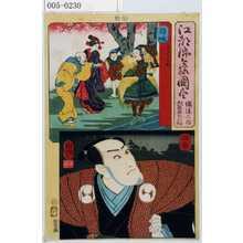 Utagawa Kuniyoshi: 「江都錦今様国尽」「備後三郎 大星由良之助」「隠岐」「播磨」 - Waseda University Theatre Museum