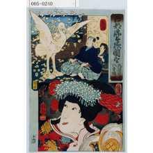 Utagawa Kuniyoshi: 「江都錦今様国尽」「飛騨の内匠 八重垣姫」「飛騨」「信濃」 - Waseda University Theatre Museum