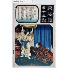 歌川国芳: 「東海道五十三対」「藤津」 - 演劇博物館デジタル