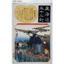 歌川国芳: 「東海道五十三対」「池鯉鮒」 - 演劇博物館デジタル