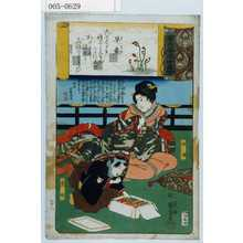 Utagawa Kuniyoshi: 「源氏雲浮世画合」「早蕨」「政岡」「千松」 - Waseda University Theatre Museum