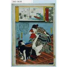 Utagawa Kuniyoshi: 「源氏雲浮世画合」「浮舟」「おまつ」「赤堀水右衛門」 - Waseda University Theatre Museum