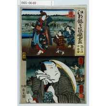 Utagawa Kuniyoshi: 「江都錦今様国尽」「朝かほ 十兵衛」「達江」「駿河」 - Waseda University Theatre Museum