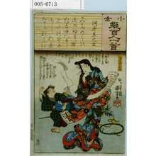 歌川国芳: 「小倉擬百人一首」 - 演劇博物館デジタル