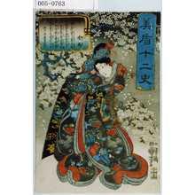 歌川国芳: 「美盾十二史」「子 雪姫」 - 演劇博物館デジタル