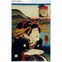 Utagawa Kuniyoshi: 「東都流行三十六会席 柳ばし 梅川」 - Waseda University Theatre Museum