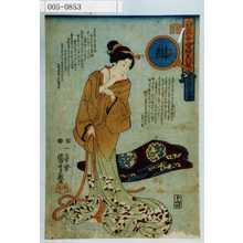 歌川国芳: 「人間万事愛婦美八卦意」「吹綿の暮雪」「紺」 - 演劇博物館デジタル