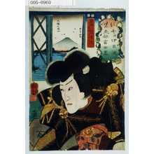 Utagawa Kuniyoshi: 「に 児 七津伊呂波東都富士尽」「盗賊児雷也実は尾形弘行」 - Waseda University Theatre Museum