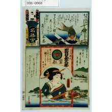 Utagawa Kunisada: 「江戸の花名勝会」「いきた弁天 岩井粂三郎」 - Waseda University Theatre Museum