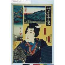 Utagawa Kunisada: 「東都高名会席尽」「白井ごん八」 - Waseda University Theatre Museum