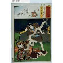 Utagawa Kunisada: 「見立三十六句撰」「名古屋山三 傾城葛城」 - Waseda University Theatre Museum