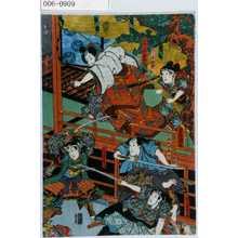 Utagawa Kunisada: 「こし元紅葉」「小田上総之助春永」「佐和村勘治」「松山音羽之助」「武智重次郎☆」 - Waseda University Theatre Museum